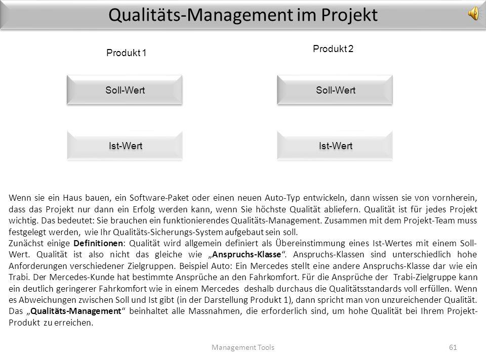 Risiko-Checkliste Management Tools60 1.Risiko2. Analyse-Methoden/ Frühwarn-Indikatoren 3. Prio4. Massnahmen 1Beschaffungsmarkt –Risiken (Lieferanten-A