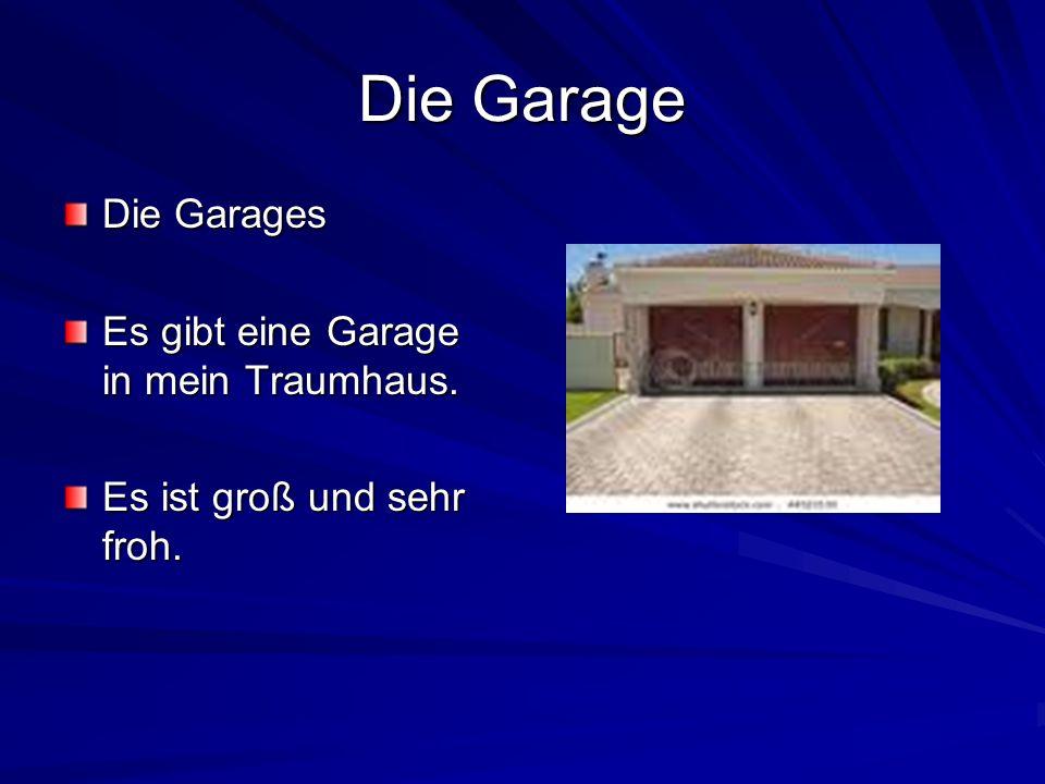 Die Garage Die Garages Es gibt eine Garage in mein Traumhaus. Es ist groß und sehr froh.