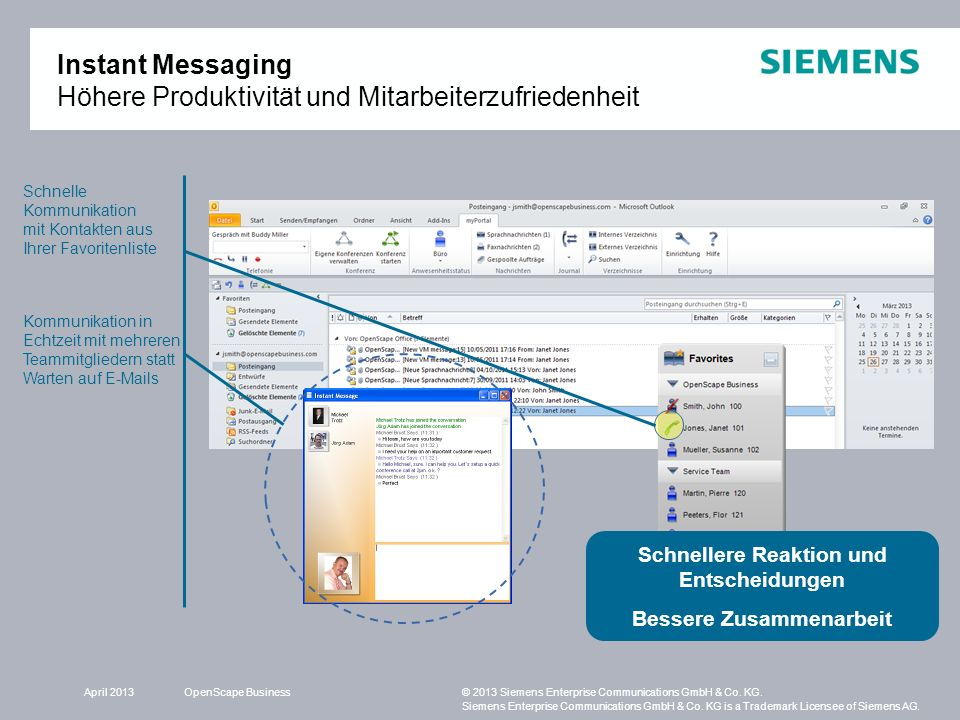 OpenScape Business© 2013 Siemens Enterprise Communications GmbH & Co. KG. Siemens Enterprise Communications GmbH & Co. KG is a Trademark Licensee of S
