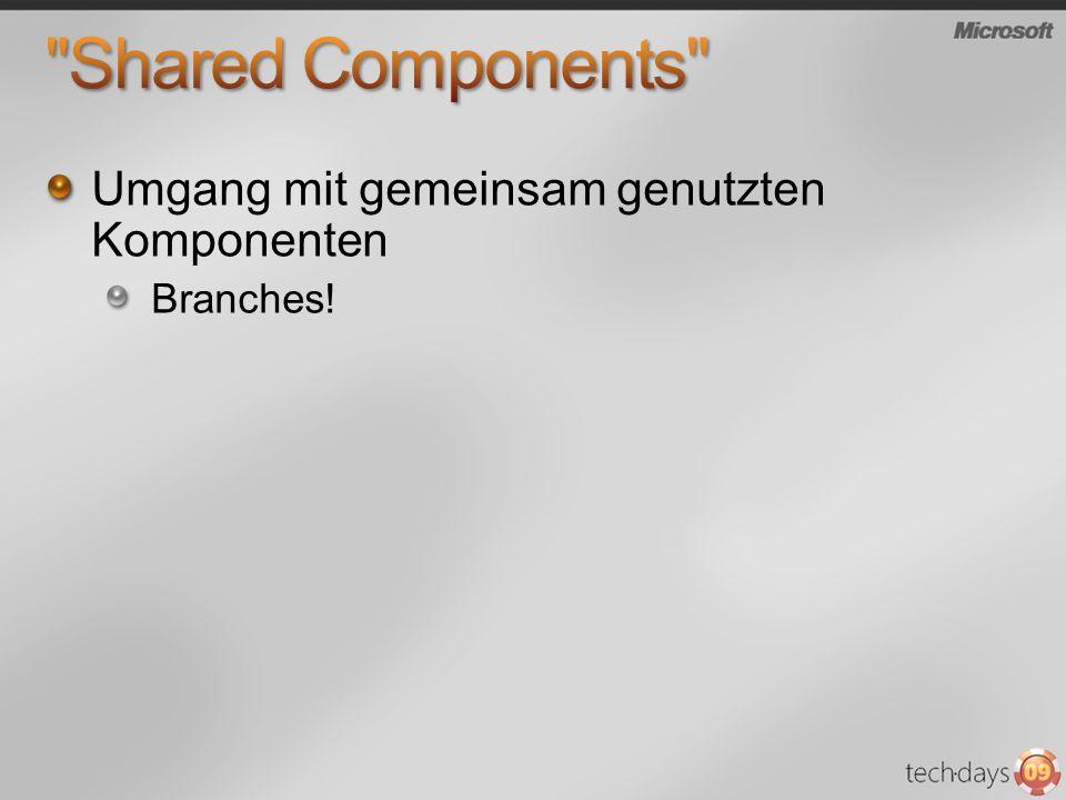 Umgang mit gemeinsam genutzten Komponenten Branches!