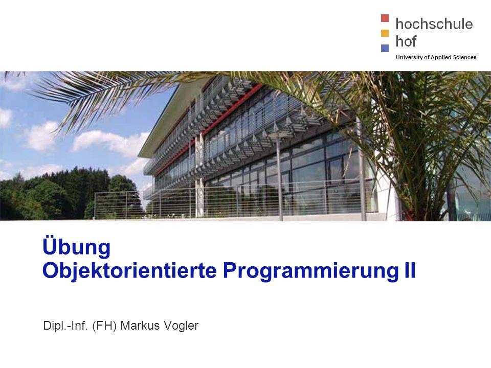© Dipl.-Inf. (FH) Markus Vogler University of Applied Sciences Einführung in Eclipse