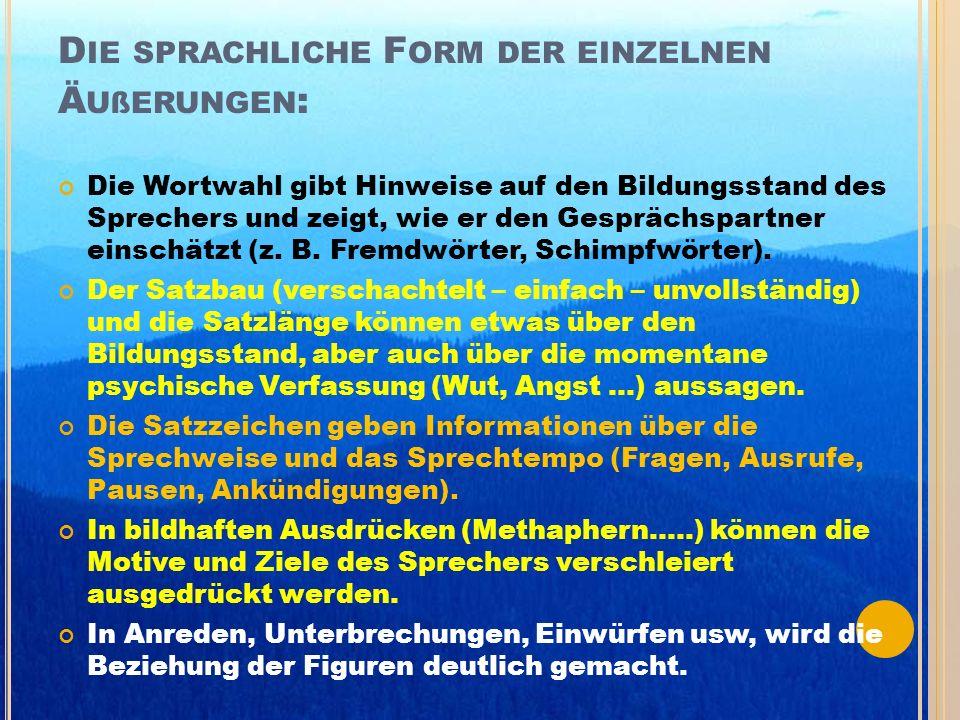 A NALYSE DES D IALOGS Die drei Grundfunktionen des Sprechens. * ( Darstellungsfunktion ), * ( Ausdrucksfunktion ), * ( Appellfunktion ).