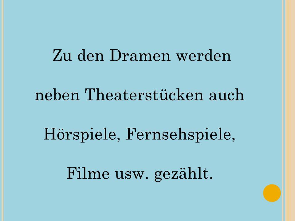 Das Lesedrama ist eine spezielle Form des Dramas, die nicht in erster Linie aufgeführt, sondern wie ein Roman gelesen werden soll.Lesedrama