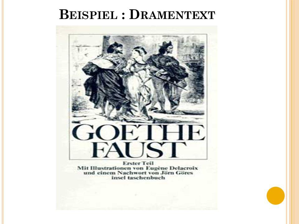 B EISPIEL : D RAMENTEXT