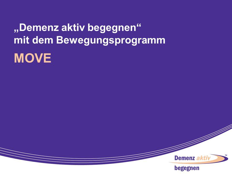 3 Ein spezielles Bewegungs- programm für Patienten mit Alzheimer- Demenz und deren Angehörige entwickelt vom fit für 100 Team des Instituts für Bewegungs- und Sportgerontologie der Deutschen Sporthochschule Köln unter wissenschaftlicher Leitung von Prof.