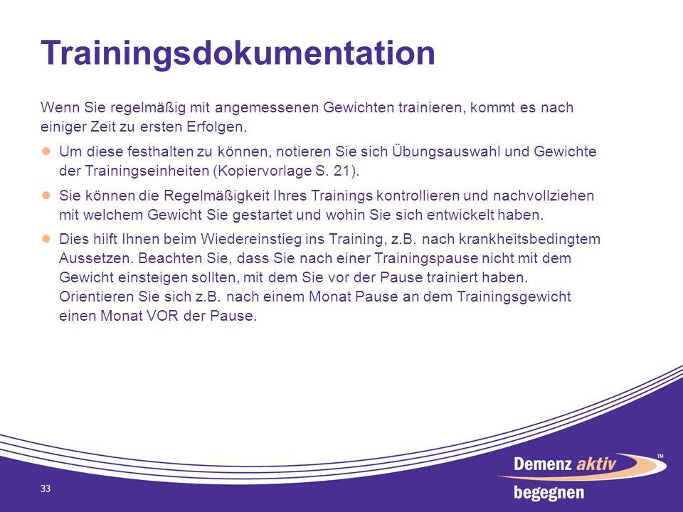Trainingsdokumentation Wenn Sie regelmäßig mit angemessenen Gewichten trainieren, kommt es nach einiger Zeit zu ersten Erfolgen. Um diese festhalten z