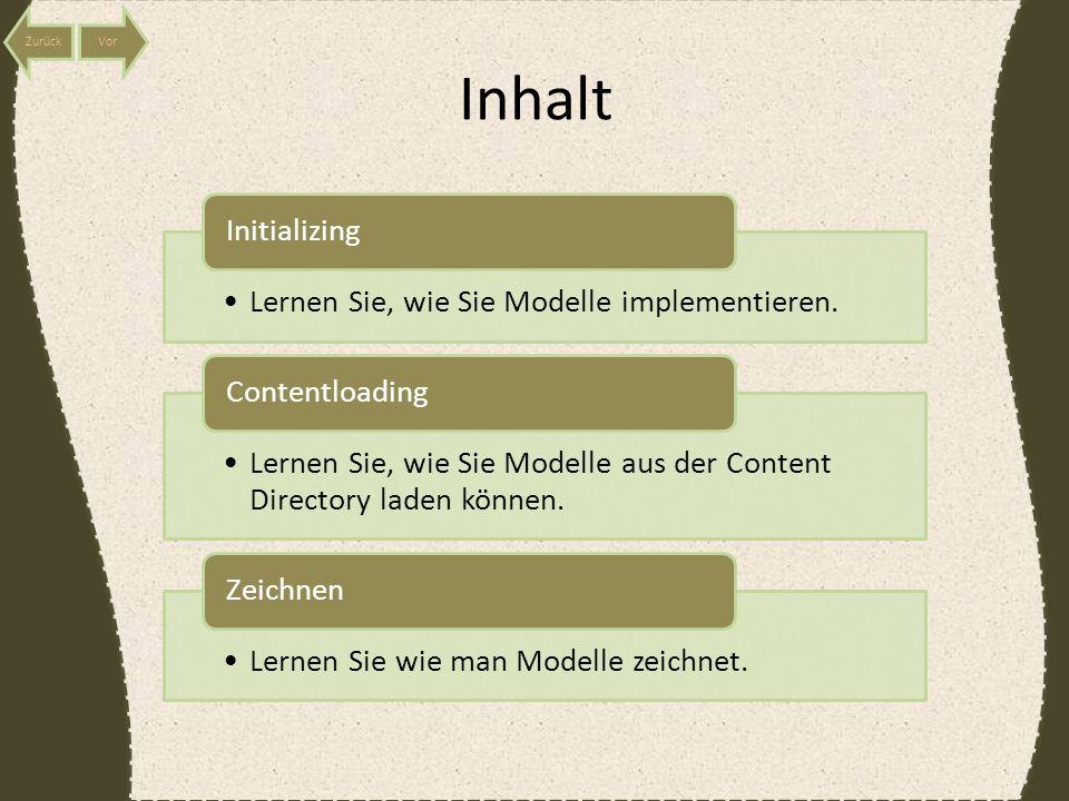 Inhalt Lernen Sie, wie Sie Modelle implementieren.