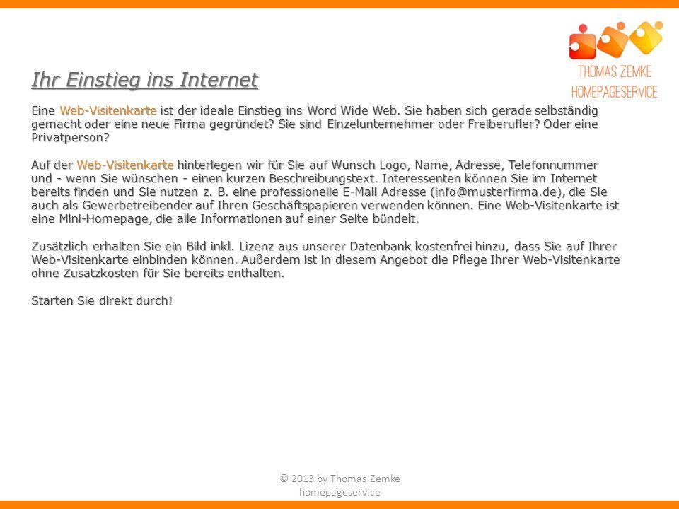 Eine Web-Visitenkarte ist der ideale Einstieg ins Word Wide Web.