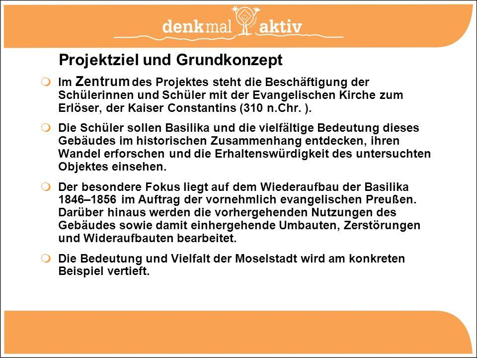 Projektmodule: Modul 1: Allgemeine Einführung (Zeitraum: Spätsommer / Herbst 2011) Modul 2: Begehung, Erkundung und (fotografische, textliche und bautechnische) Dokumentation des Objektes.