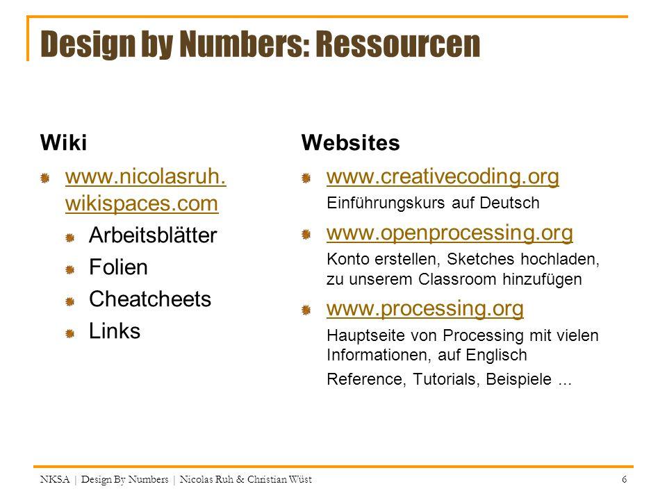 Processing baut auf JAVA auf Processing ist ein einfaches front end für Java.