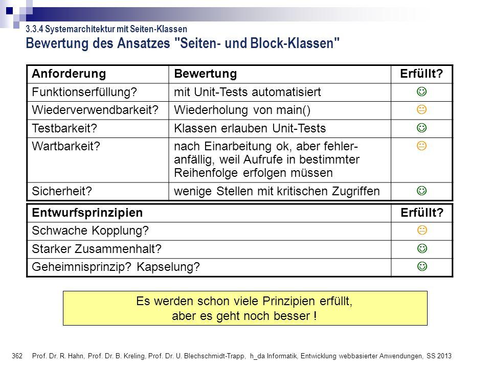 362 Prof.Dr. R. Hahn, Prof. Dr. B. Kreling, Prof.