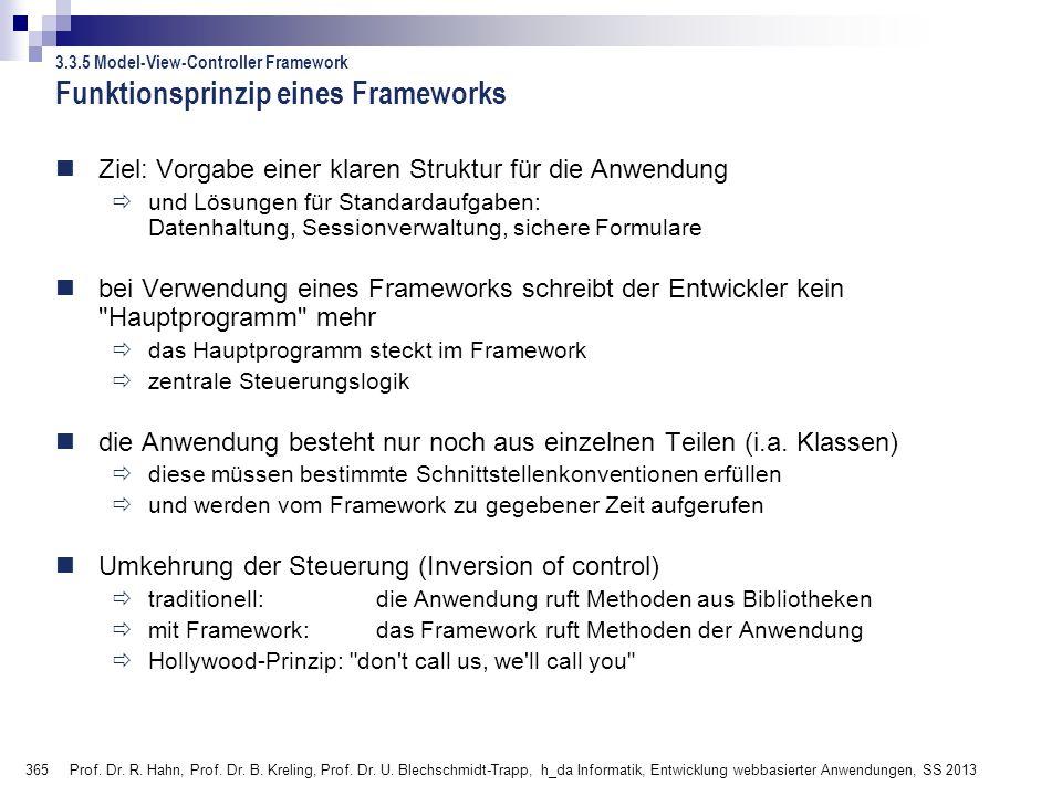 365 Prof.Dr. R. Hahn, Prof. Dr. B. Kreling, Prof.