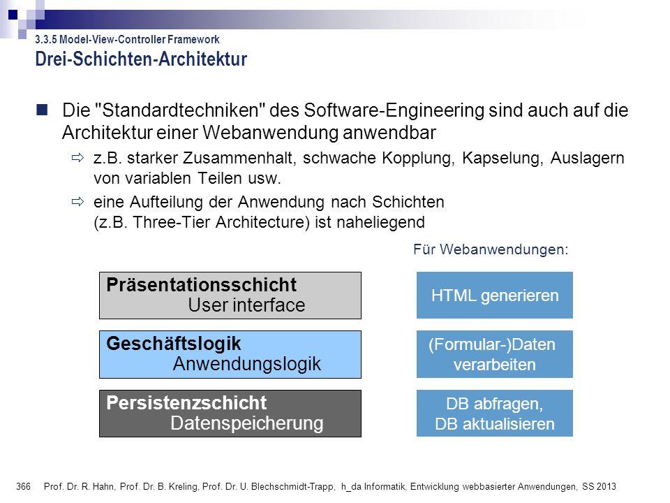 366 Prof.Dr. R. Hahn, Prof. Dr. B. Kreling, Prof.