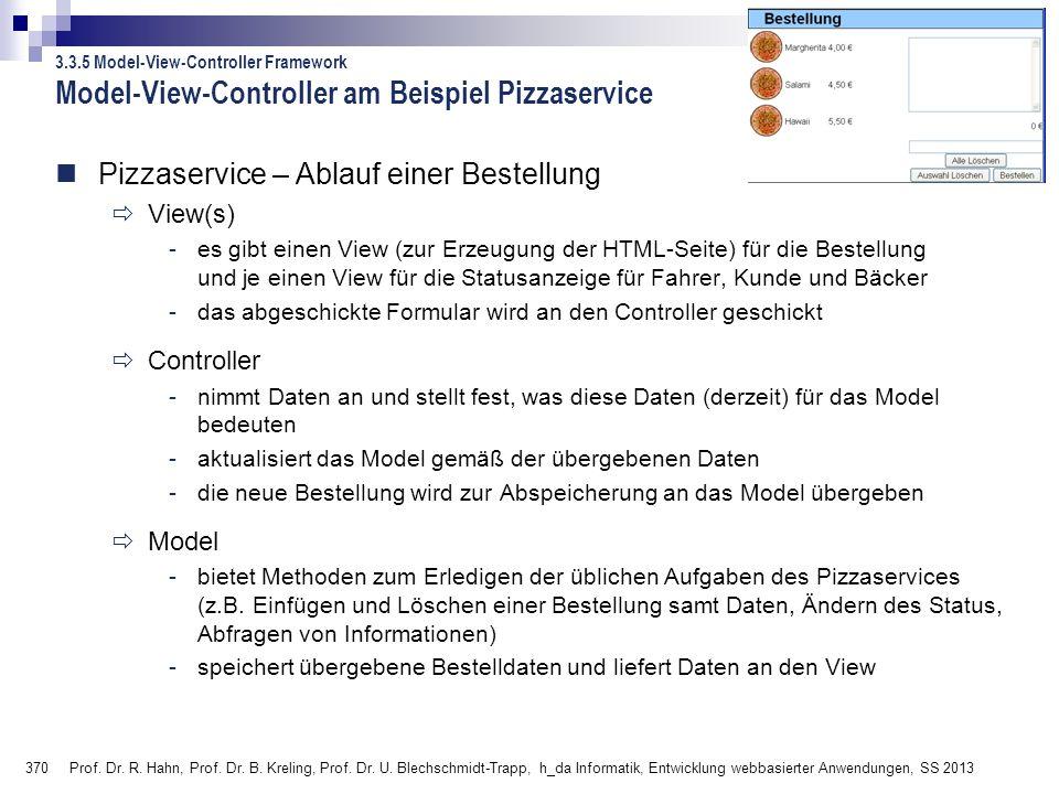 370 Prof.Dr. R. Hahn, Prof. Dr. B. Kreling, Prof.