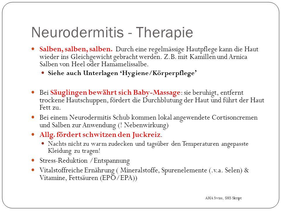 Neurodermitis - Therapie Salben, salben, salben.