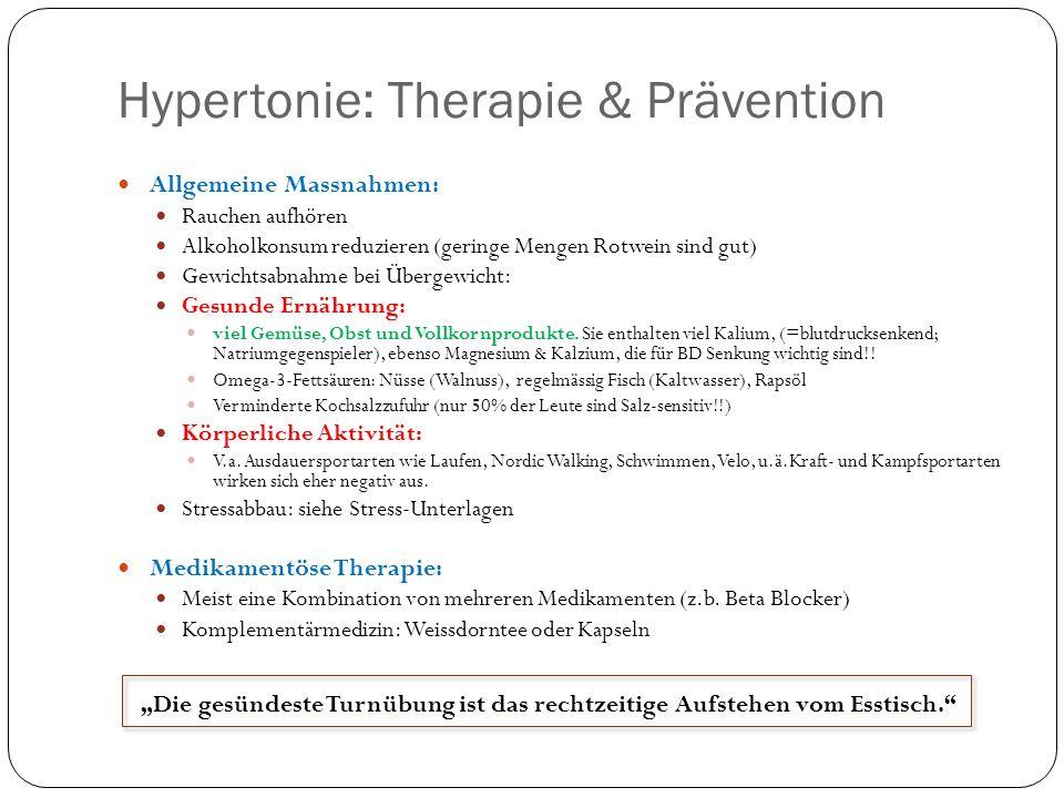 Niedriger Blutdruck - Therapie Aus medizinischer Sicht ist keine Therapie nötig.