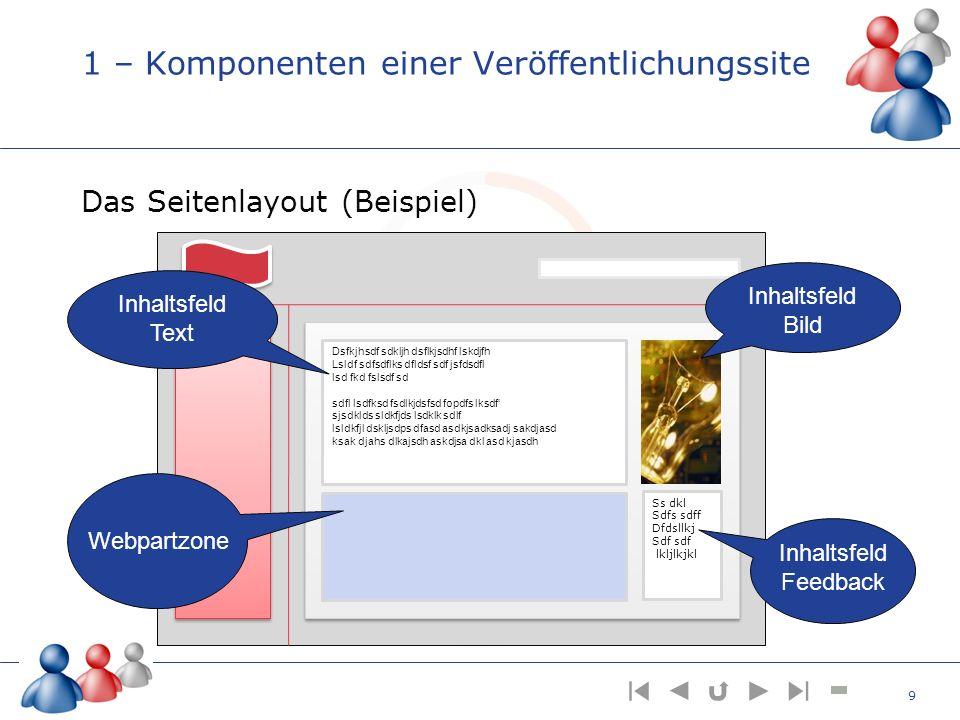 5 – Ein Seitenlayout entsteht Ziehen Sie nun aus der Toolbox die Produktbeschreibung in die linke Spalte Ziehen Sie das Produktfoto und die Kundenstimme in die rechte Spalte Nun ist das Seitenlayout erstellt und kann veröffentlicht werden 40