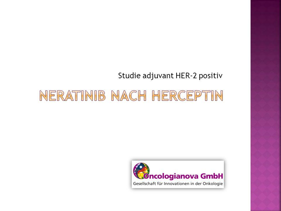 Studienrationale I Die meisten HER-2+ Frauen werden im adjuvanten Setting mit Trastuzumab für mindestens 1 Jahr behandelt.