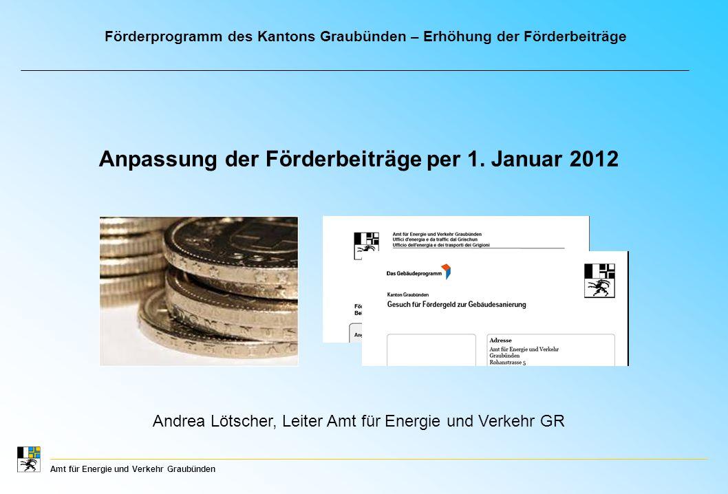 Amt für Energie und Verkehr Graubünden Anpassung der Förderbeiträge per 1.