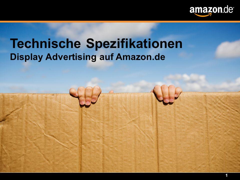 1 Technische Spezifikationen Display Advertising auf Amazon.de