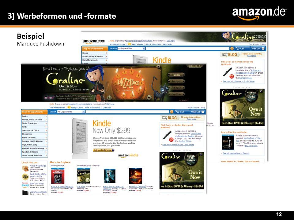Beispiel Marquee Pushdown 3] Werbeformen und -formate 12