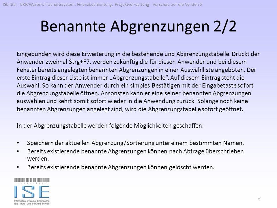 Buchungskladde 1/2 Es wird ein neues Feld eingeführt, welches das Inkrement der Belegnummer in den Buchungskladdenzeilen steuert.