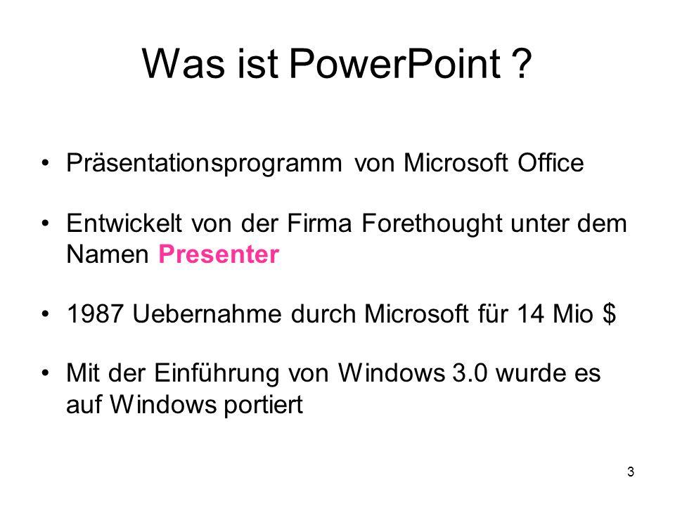 4 Wie starten wir PowerPoint Über die bestehende Ikone oder Anklicken des Start Buttons unten links