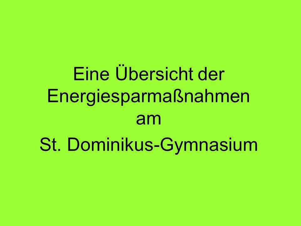 Eine Übersicht der Energiesparmaßnahmen am St. Dominikus-Gymnasium