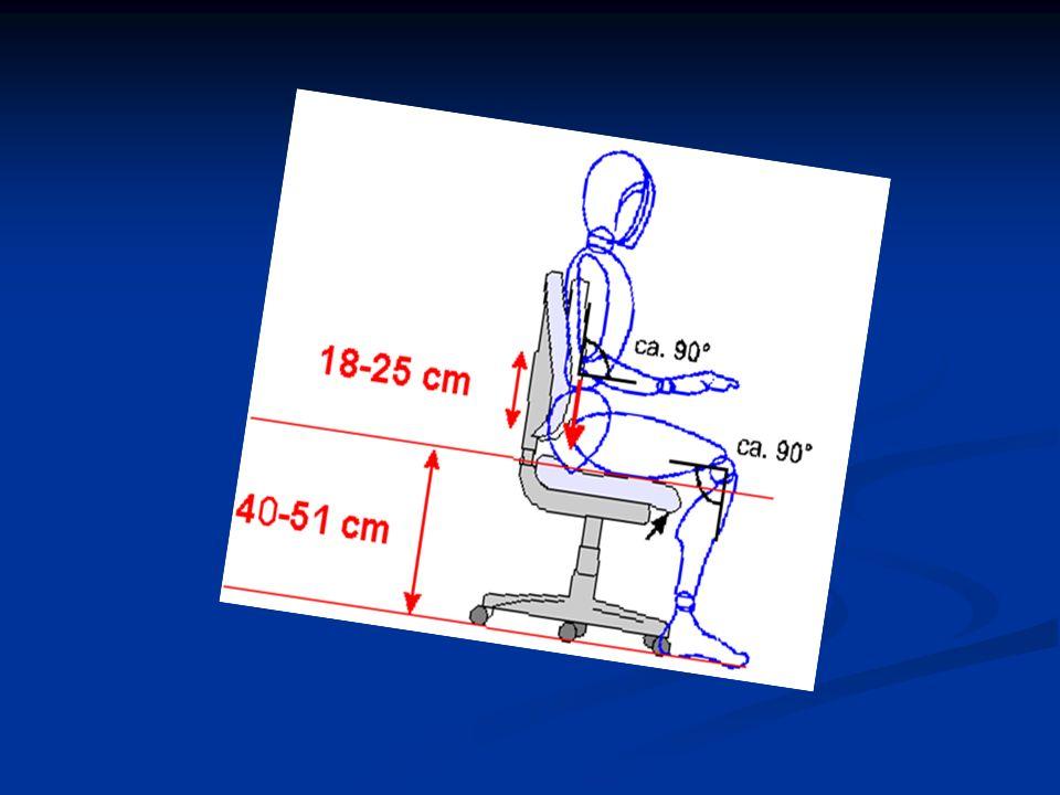 2. Arbeitsstuhl Maße und Mindestanforderungen höhenverstellbar von 40 - 51 cm Rückenlehne muss höhen- und neigungsverstellbar sein mindestens 5 gebrem