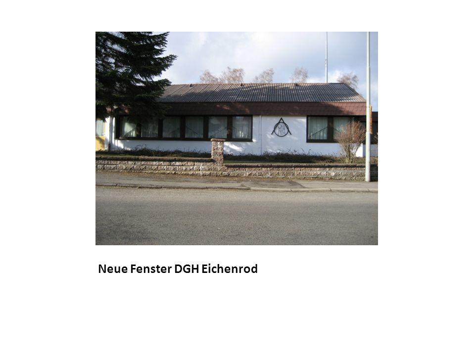 Neue Fenster DGH Eichenrod