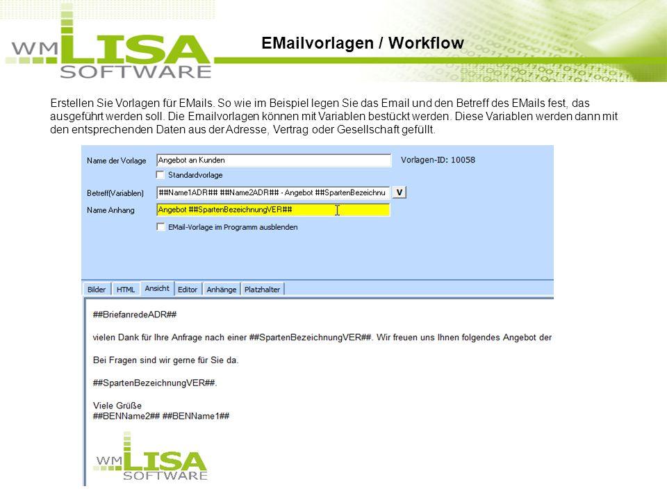 Erstellen Sie Vorlagen für EMails.