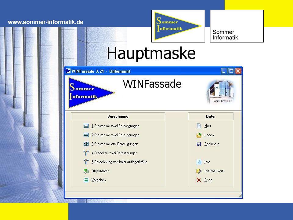 Eingabefenster www.sommer-informatik.de Wählen Sie zuerst die gewünschte Berechnungsart.