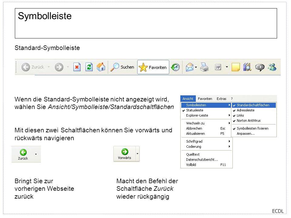 ECDL Webseite drucken Um eine Webseite zu drucken, wählen Sie Datei/Drucken.