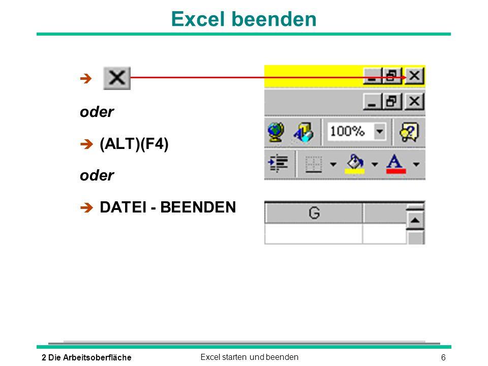 72 Die ArbeitsoberflächeDas Excel-Anwendungsfenster Aktive Zelle Office-Assistent Statusleiste Bearbeitungsleiste Blattregister Menüleiste Symbolleiste Aktuelles Tabellenblatt