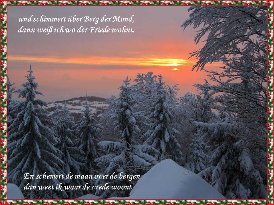 Und wenn es draußen leise schneit, sind Wald und Flur in weißen Kleid En als het buiten zachtjes sneeuwt zijn bos en grond in het wit gekleed