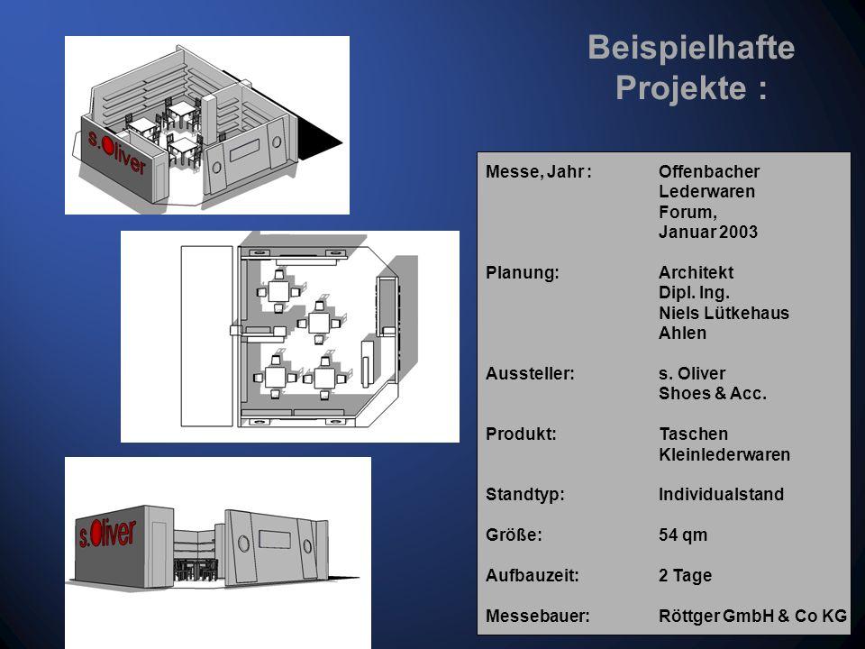 Messe, Jahr : GDS Düsseldorf, März 2003 Planung: Architekt Dipl.