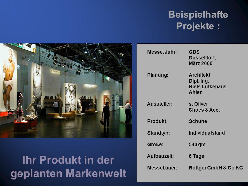 Messe, Jahr : GDS Düsseldorf, 2001 Planung: Architekt Dipl.