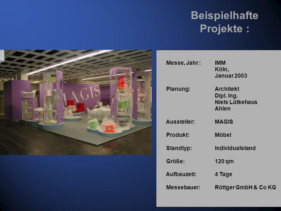 Messe, Jahr : GDS Düsseldorf, März 2000 Planung: Architekt Dipl.