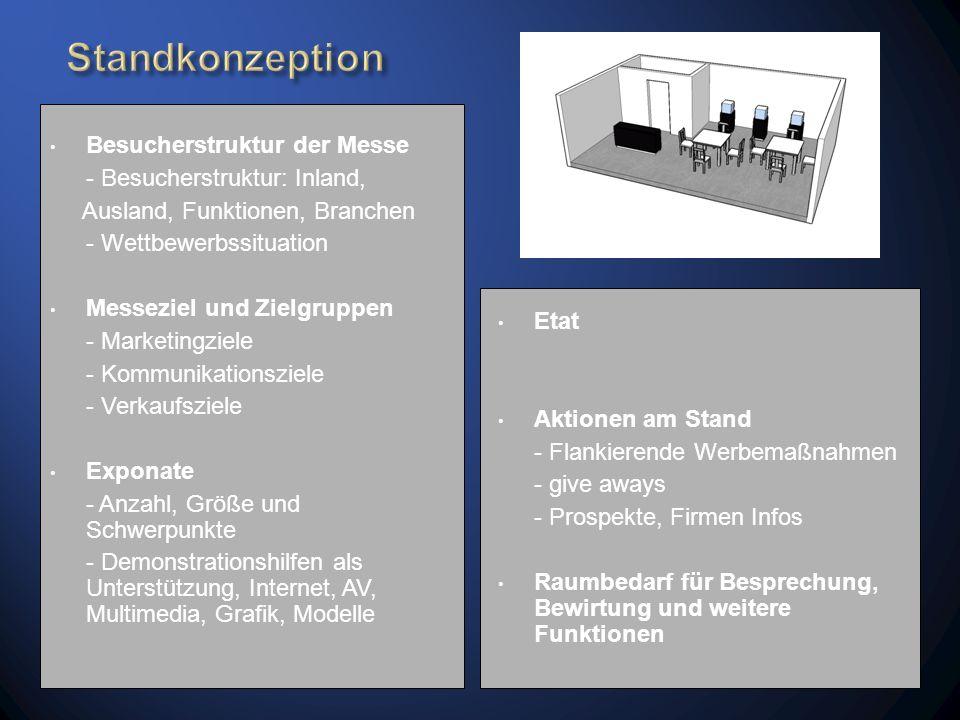 www.Messestandplanung.de Dahinter verbirgt sich ein Zusammenschluß von Planern und Firmen mit jahrelanger Erfahrung im Messebau.