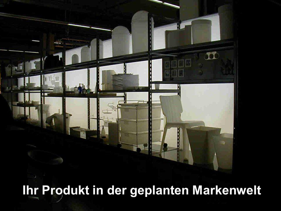 Ihr Produkt in der geplanten Markenwelt