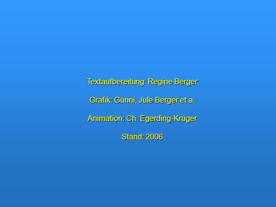 Textaufbereitung: Regine Berger Grafik: Günni, Jule Berger et a. Animation: Ch. Egerding-Krüger Stand: 2006