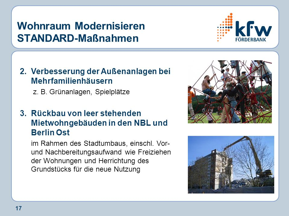 17 Wohnraum Modernisieren STANDARD-Maßnahmen 2.