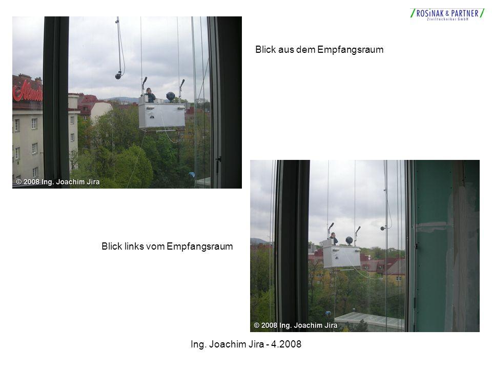 Ing. Joachim Jira - 4.2008 Blick aus dem Empfangsraum Blick links vom Empfangsraum