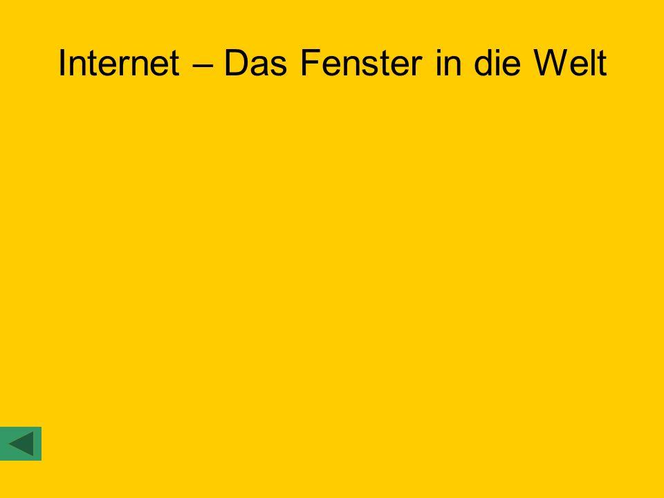 Internet – Das Fenster in die Welt