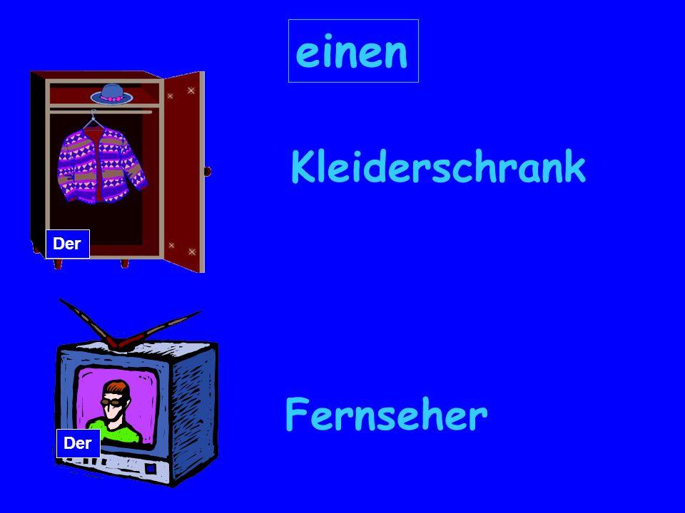 einen Kleiderschrank Fernseher Der
