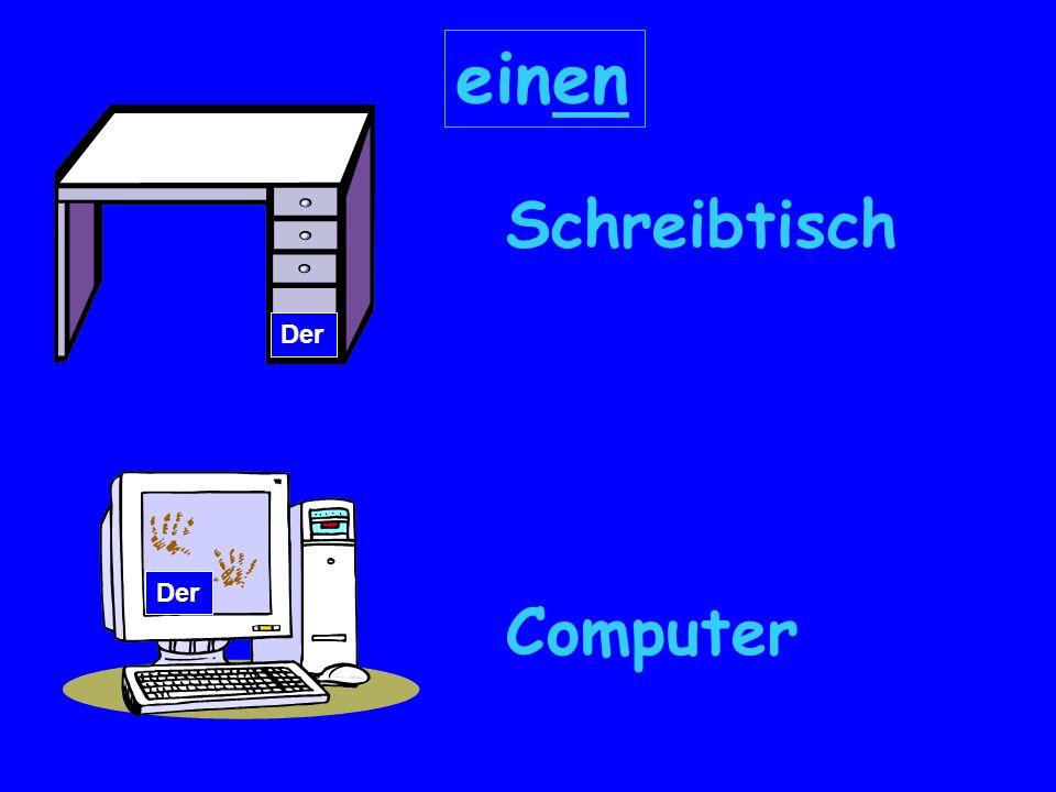 Schreibtisch Computer Der einen