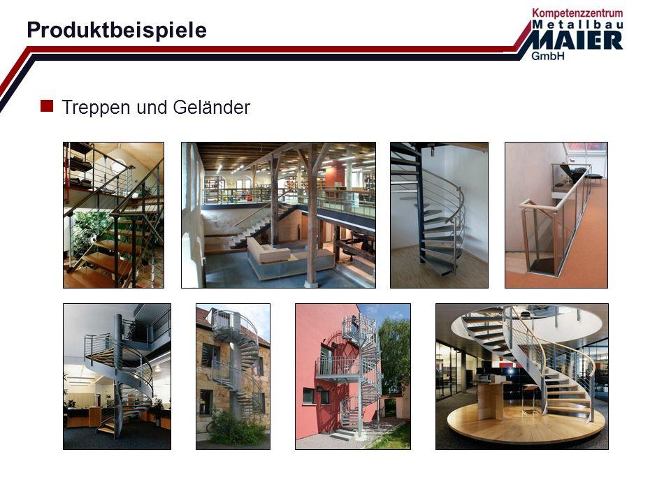 Produktbeispiele Treppen und Geländer