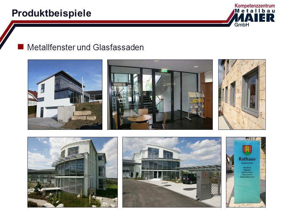 Produktbeispiele Metallfenster und Glasfassaden