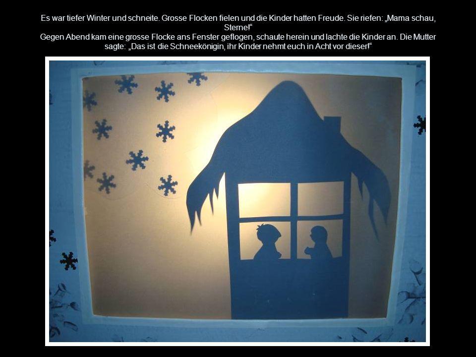 Es war tiefer Winter und schneite. Grosse Flocken fielen und die Kinder hatten Freude. Sie riefen: Mama schau, Sterne! Gegen Abend kam eine grosse Flo