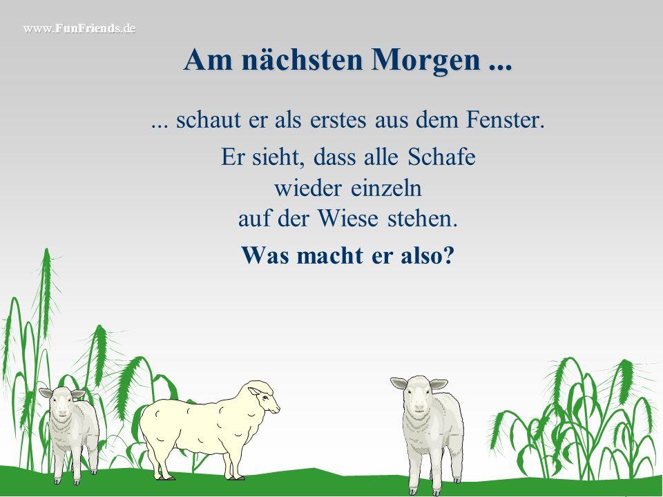 Also...... packt er wieder alle seine Schafe auf den Traktoranhänger und fährt wieder in den Wald. Jetzt besorgt er es jedem Schaf zweimal und fährt m